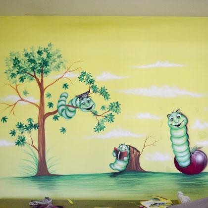 creodesign anan kids school interior wall art in coimbatore